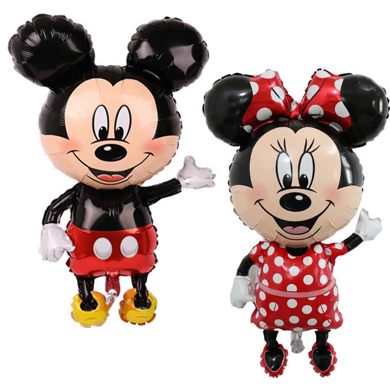 1 PC Raksasa Mickey Minnie Mouse Balon Kartun Balon Baby Shower Anak Laki-laki Gadis Pesta Ulang Tahun Anak-anak Hadiah
