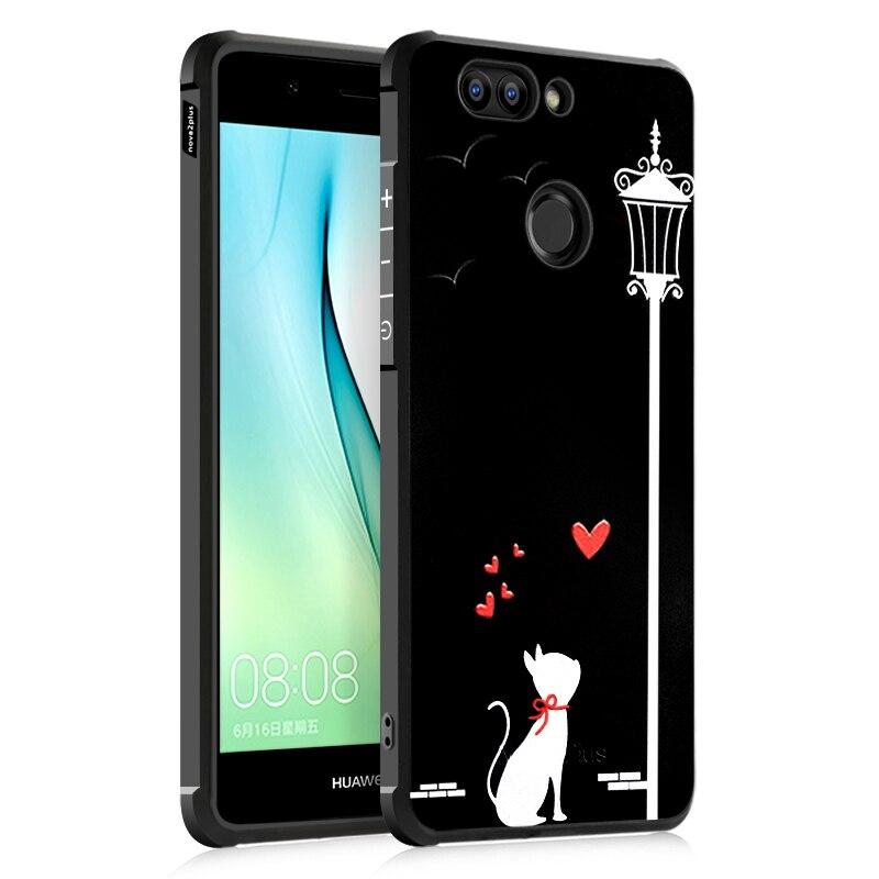 Phone Case For Huawei Nova/ Nova 2/ Nova 2 Plus Case 3D Anti-knock Soft Silicone TPU Cover For Huawei Nova 2 Plus Case Cover Bag