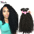 "Natural Black Kinky Curly Malaysian Virgin Hair 4 Bundle 100g Deals 8""-28"" Customized Top Malaysian Curly Virgin Hair Thick Ends"