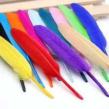 50pcs High quality Colorful Goose Feather Chicken Diy costumes hat earrings wedding decorative feather length 12-14cm
