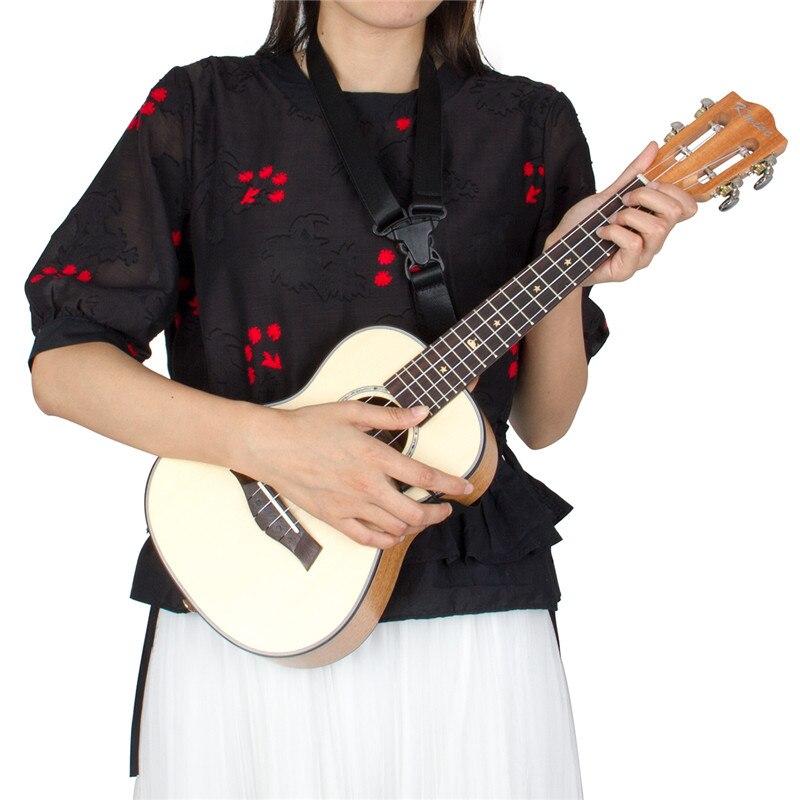 Kmise Concert ukulélé épicéa massif acajou guitare classique tête 23 pouces Ukelele Uke 4 cordes Hawaii guitare - 6