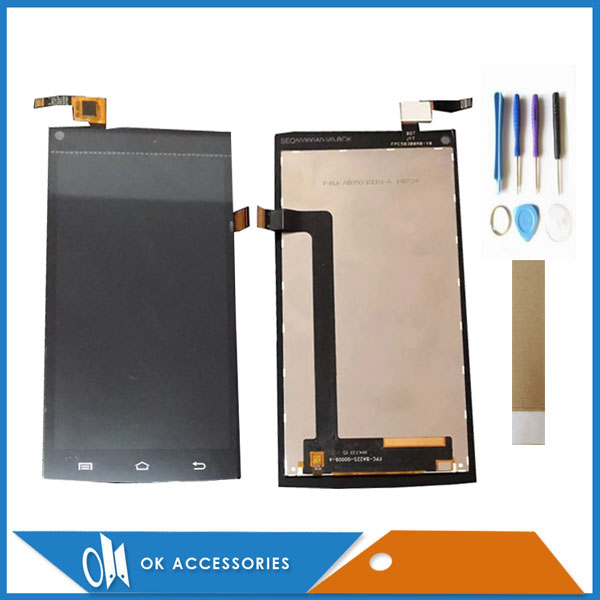 5.0 Inch For Cubot X6 LCD Display+Touch Screen Digitizer White Black Colour With Tools Tape