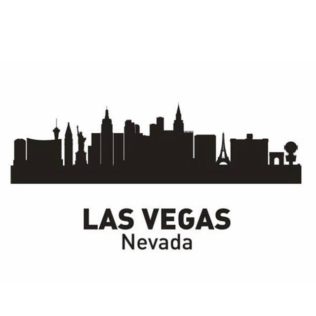 las vegas city decal landmark skyline wall stickers sketch decals poster parede home decor sticker - Home Decor Stores Las Vegas