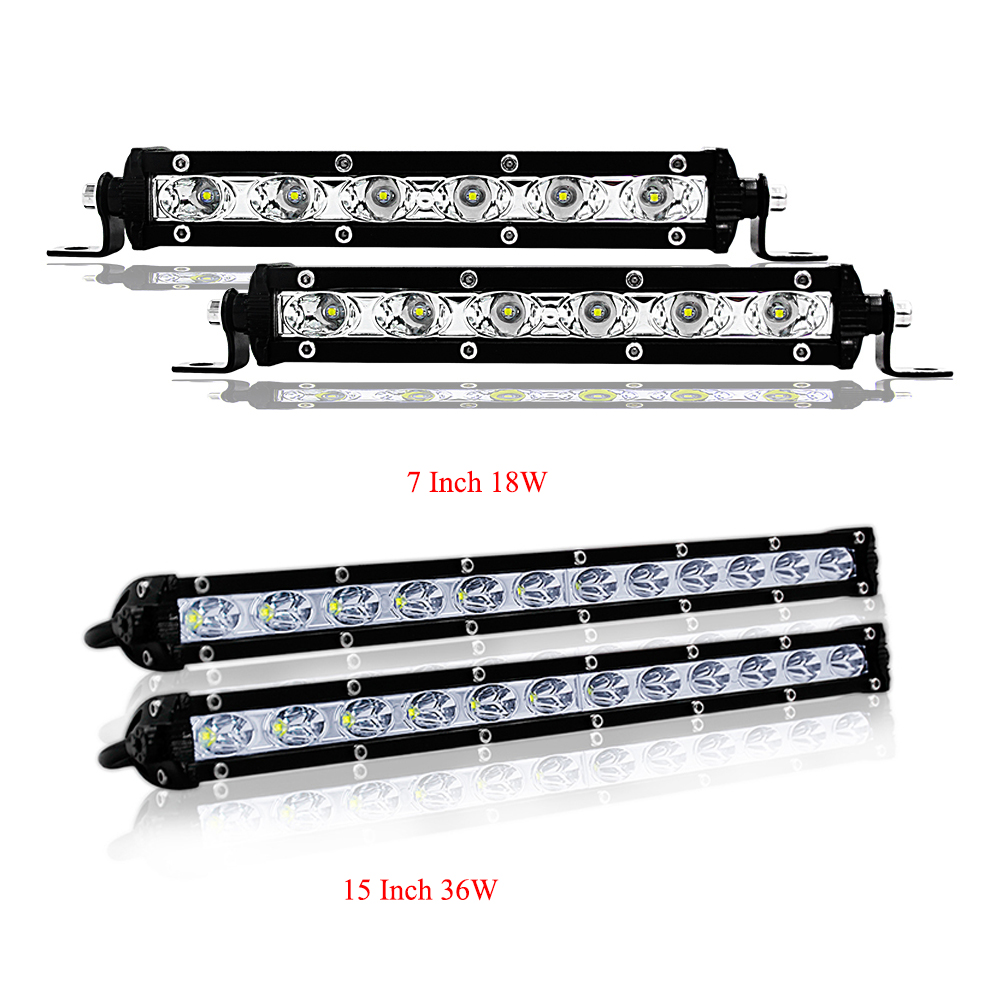 JAEHEV 7 12 inch 18W 36W LED Work Light Bar Spotlight for Jeep Motorcycle Boats ATV SUV 4WD 4x4 Trucks Tractor Offroad Driving