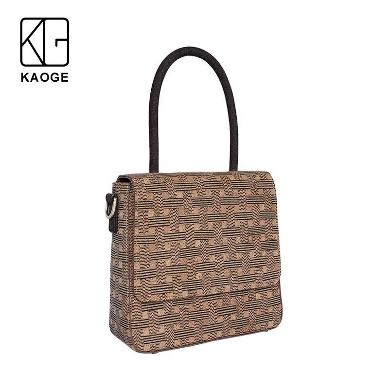 KAOGE Vegan fait à la main naturel liège Designer sac femmes vantage sacs à main Antifouling dames sacs à main sacs à bandoulière
