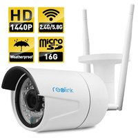 Reolink RLC 410WS 4MP 1440P Wireless Security IP Camera Dual Mode Wifi Built In 16GB Micro