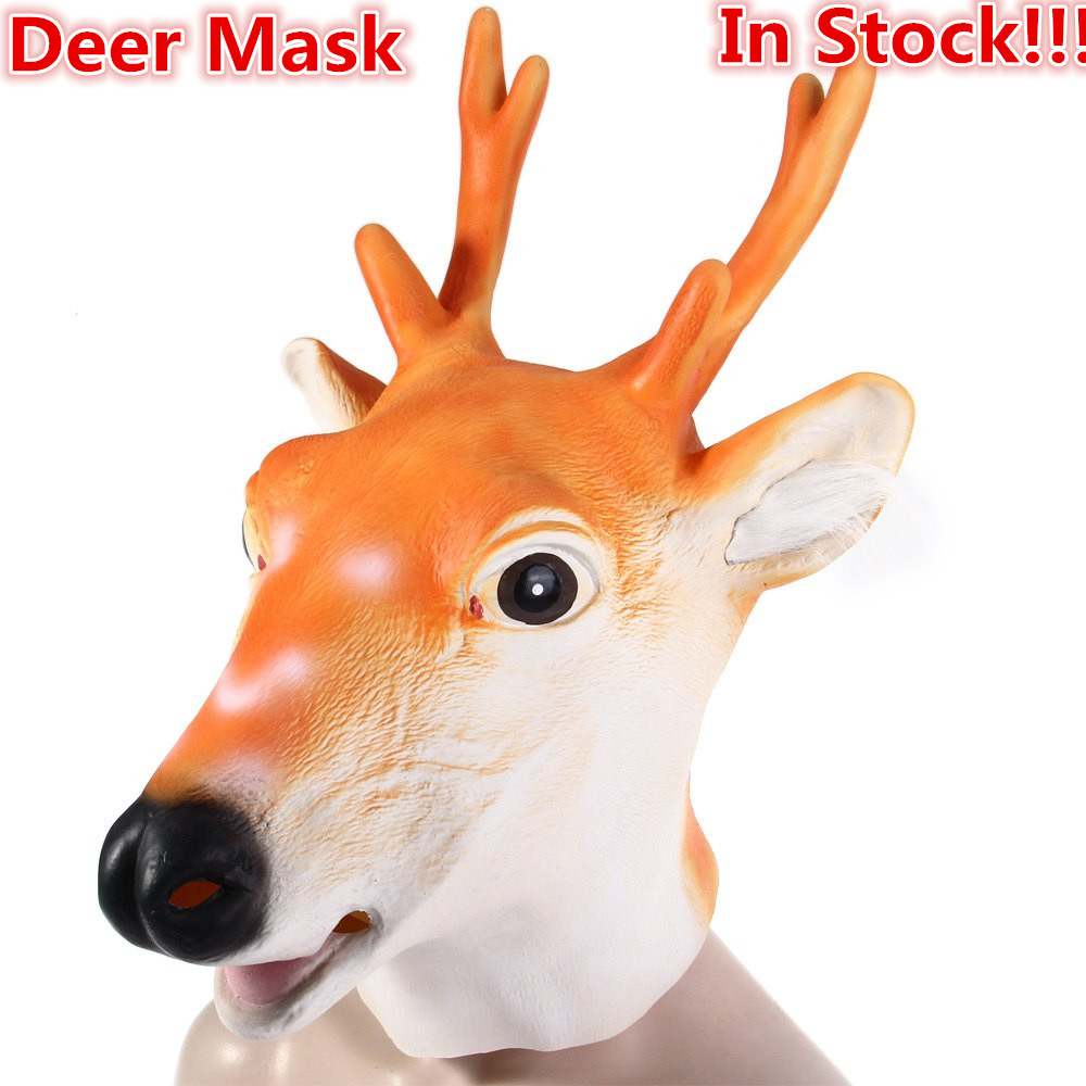 2017 New Halloween Deer Mask Sika Deer Head Mask Animal Mask ...