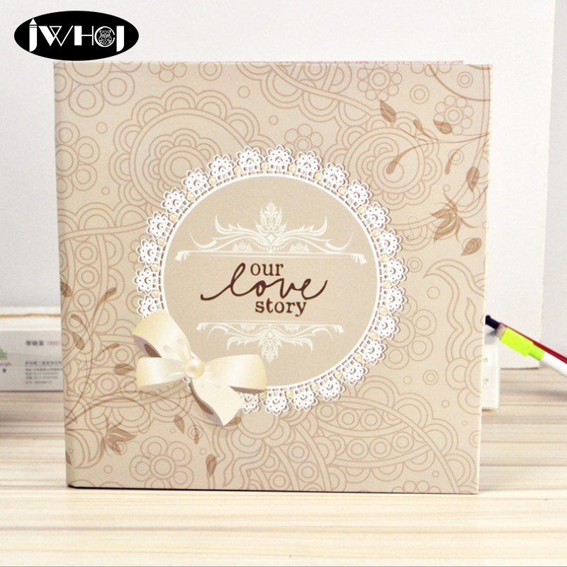 Creative 12 inch our love story Photo Album Wedding childrend Family Memory Record Album diy Handmade Sticky Type scrapbooking in Photo Albums from Home Garden