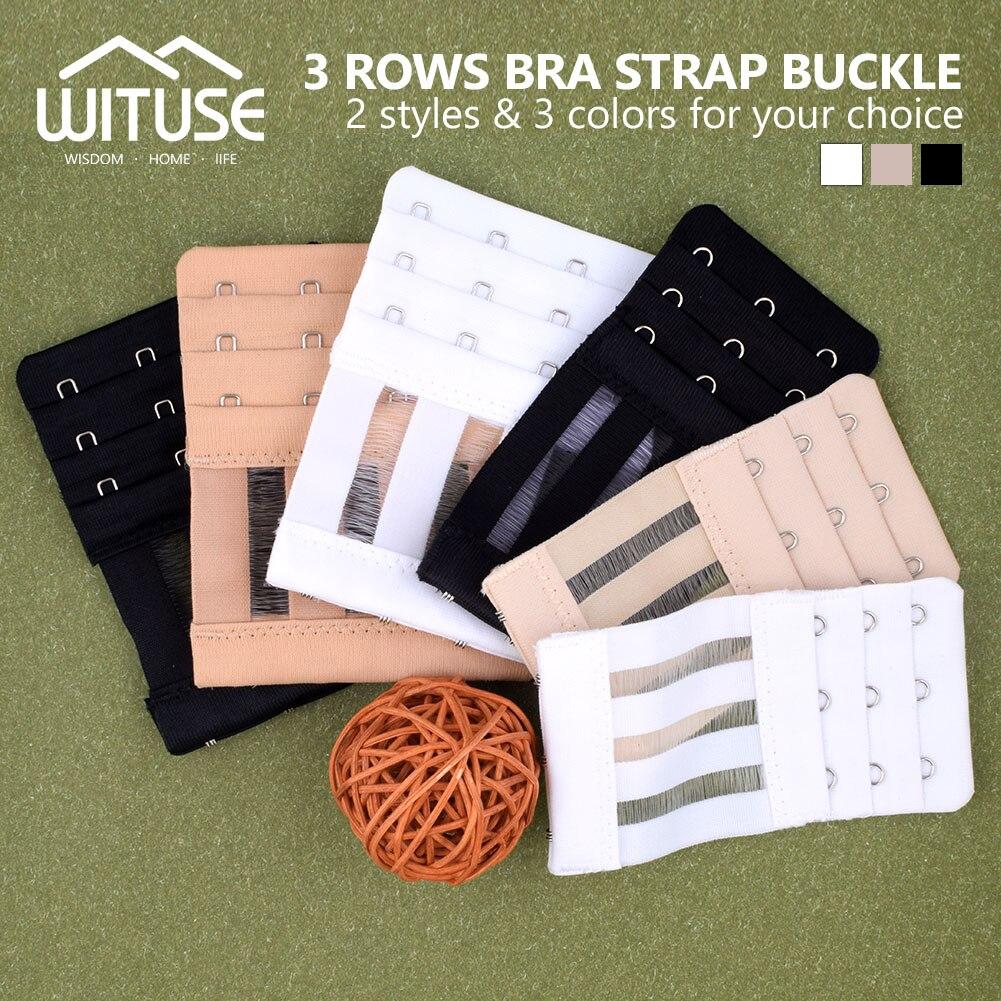 WITUSE Promotion! 3pcs 6pcs Ladies Useful Bra Extenders Strap Extension 3 Hooks 3 Rows Adjustable Belt Buckle 3 Rows 4 hooks