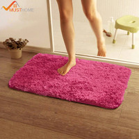 50 80cm 19 68 31 49in Bath Mat Anti Slip Solid Home Bathroom Rugs Bathroom Carpet