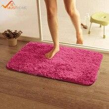Купить с кэшбэком 50*80cm/19.68*31.49in bath mat anti-slip Solid Home bathroom rugs bathroom carpet