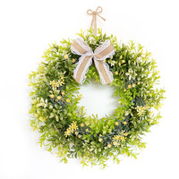 AsyPets Decorative Artificial Flowers Wreaths Wedding Flower Hanging Wreaths Flowers Garland with Bow for Door Decoration 10