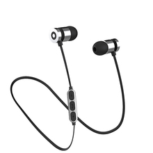 цена на ZW1 Metal Bluetooth earphone Wireless sport Earbuds with microphone Magnetic Stereo Headset Headphones for phone auriculares