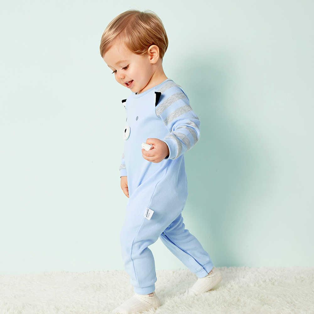 Balabala 2018 nuevos pijamas para niños mamelucos de algodón para bebés recién nacidos ropa interior de manga larga traje de niños niñas salto de otoño