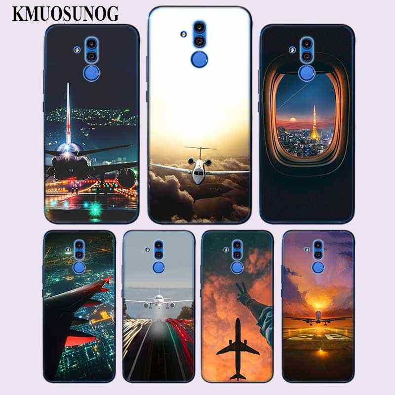 Transparent Soft Silicone Phone Case Aircraft plane airplane aeroplane for Huawei Mate Honor 20 10 9 Pro Lite 7C Cover