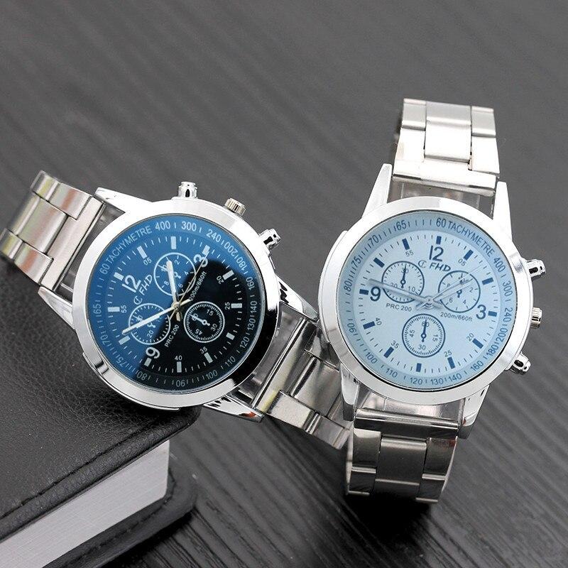 Stainless Steel Sport Quartz Hour Wrist Analog Watch Mens Watches Wristwatch