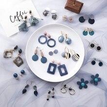 32 стиля корейские серьги новые модные простые леопардовые геометрические длинные висячие серьги с уксусной кислотой круглые ювелирные изделия с кристаллами