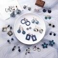 32 Styles Korean Ohrringe Neue Mode Einfache Leopard Print Essigsäure Geometrische Lange Tropfen Ohrringe Kreis Kristall Schmuck
