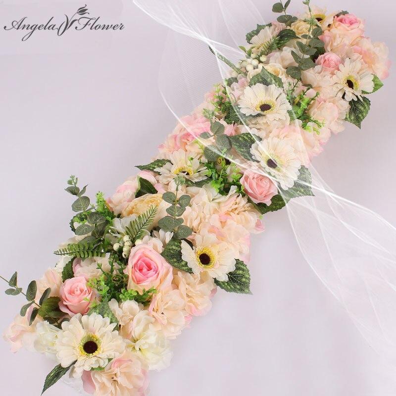 DIY1M wedding flower decor for iron arch artificial flower arrangement supplies Road lead cited flower Row