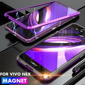 ADKO ударопрочный двойной экран NEX 2 Fundas прозрачное закаленное стекло задняя металлический чехол-бампер Магнитная адсорбционная КРЫШКА ДЛЯ ... >> ADKO1 Store