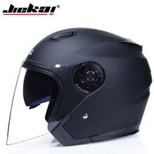 Мотоцикл JIEKAI шлемы электрический велосипедный шлем с открытым лицом двойные защитные козырьки объектива для мужчин и женщин летний скутер мотоцикл мото велосипедный шлем