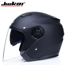 JIEKAI Motorcycle Helmets Electric Bicycle Helmet Open Face Dual Lens Visors Men Women Summer Scooter Motorbike Moto Bike Helmet(China)
