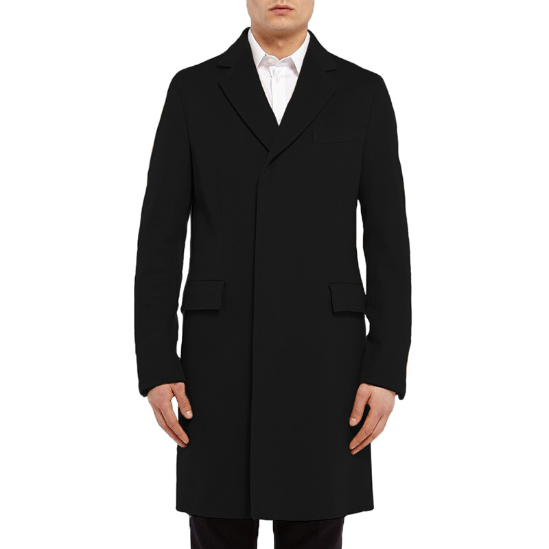 2019 new men fashion 80s cool   trench   trend European slim brand top coat long style high-grade dropshipping cotton clothes