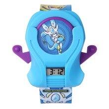 Niños de la historieta Relojes de Moda Reloj Ocasional Impermeable Rbbur Correa Niños Chicos Reloj Horas Chicas Relojes de Pulsera Electrónica