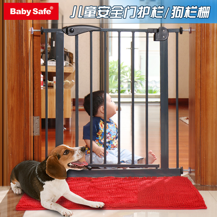 black color babysafe metal iron gate baby safety gate pet isolation fence 75-82cm width ...