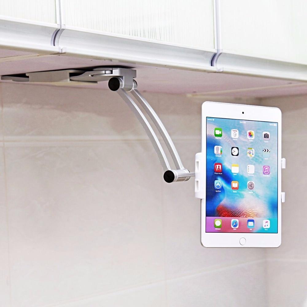 imágenes para Teléfono celular Titular de la Cocina Universal Para la Tableta de Montaje En Pared Soporte Para Soporte Para Teléfono celular Para 13.4 A 19 cm de Ancho Para El Iphone 7 Más