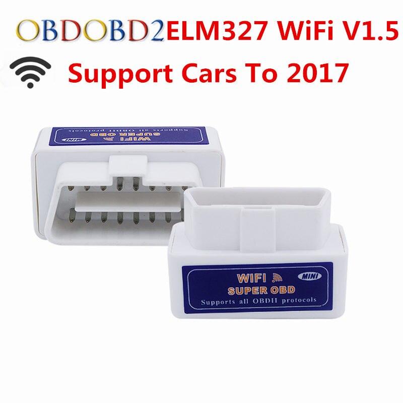 V1.5 ELM327 WIFI OBD2 ELM 327 WIFI V1.5 OBDII Lettore di Codice Strumento diagnostico Mini Scanner OBD 2 Auto Strumento di Diagnostica Per IOS Android