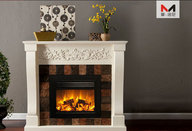 Q 02 Large Flat Panel Cast Iron Electric Fireplace Insert