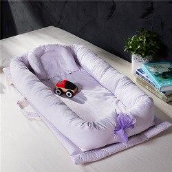 Nido de bebé portátil cama biónica de la leche recién nacida cuna Mattres artefacto para dormir juguetes de bebé cama de viaje con parachoques