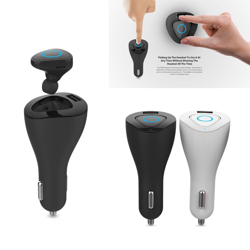 R6000 Mini Stereo Car Bluetooth headset Wireless earphone bluetooth handsfree car kit headphone with base Charging Dock