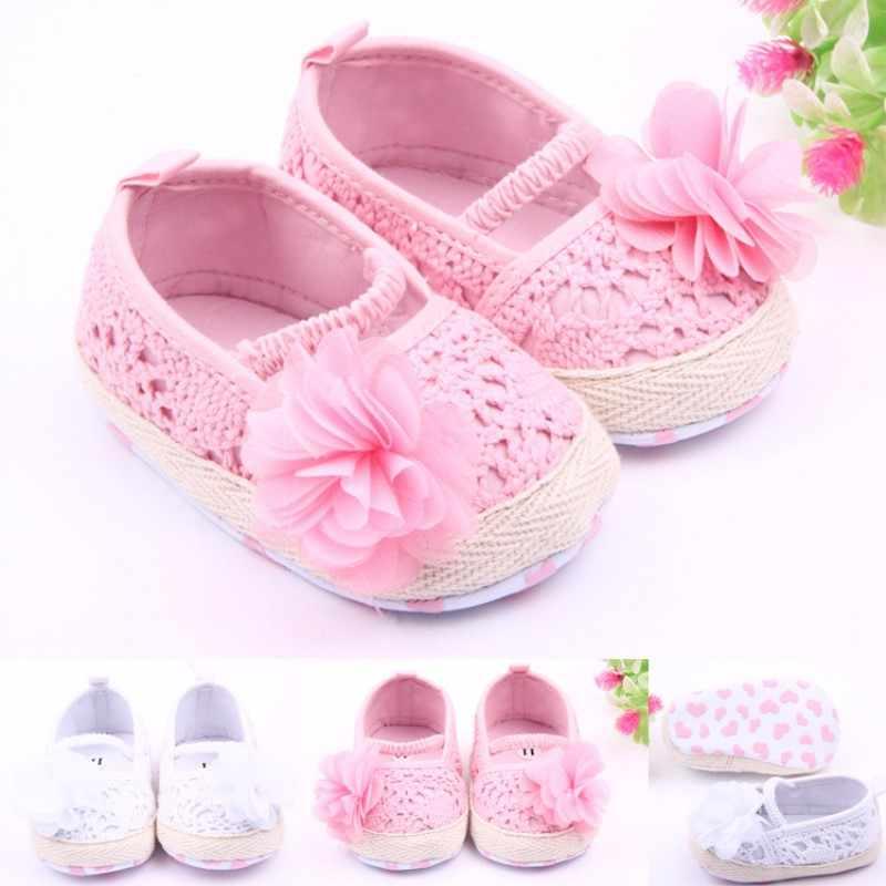 6b7a7df973 ROMIRUS Niña Zapatos bebé recién nacido Primavera Verano dulce luz Mary  Jane Big Bow tejido baile