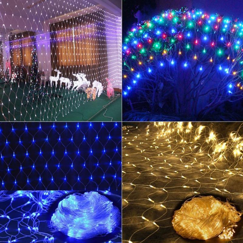 1.5x1.5m 2x3m 4x6m 8 Modes 220v Super Bright String Light Christmas Lights