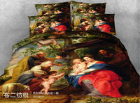 European oil painting 3D printing 4pc bedding set Twin queen King bed Duvet/Quilt covers bedclothes pillow shams sets