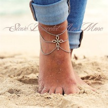 Boho Beach Summer Fashion Silver Bracelets & Bangles Multilayer Chains Hollow Out Flower Anklets For Women Jewelry Free Shipping