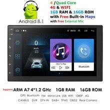 Android Авторадио 2 DIN Авторадио gps навигация 2din автомобильный мультимедийный плеер BT FM Зеркало Ссылка стерео аудио монитор микрофон
