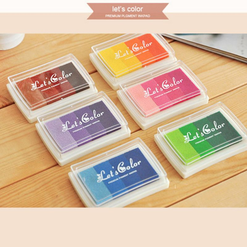 6Pcs Kids Fingerprint Ink Pad Stamp Partner Baby Graffiti Painting Tool DIY Art Craft Seal