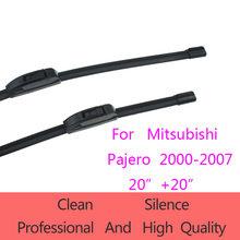 "Limpiaparabrisas de alta calidad para mitsubishi pajero 2000-2007 20 ""+ 20"" coche accessoriessoft goma ajuste estándar j limpiaparabrisas gancho"