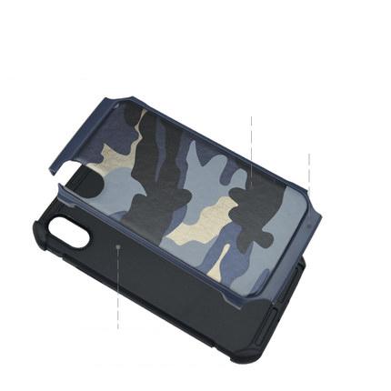 iPhone X 迷彩 手帳型
