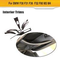 For BMW 3 Series F30 4 Series F32 F36 320i 328d 328i 420i 428i 435i 440i Dashboard Trim Strip Dry Carbon Fiber Cover 7pcs/set
