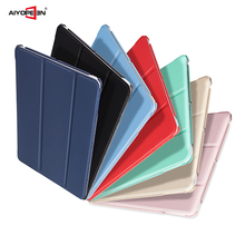 for new ipad pro 9.7 case 2017 release pu leather smart wake up sleep with matte transparent pc back cover flip stand