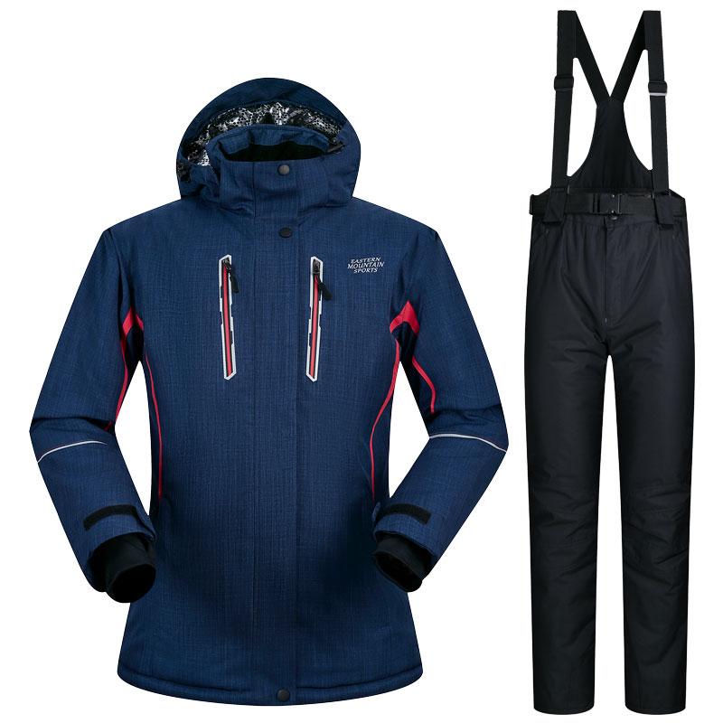 Combinaison De ski Femmes Hiver Sports de Plein Air Dames Neige Costume Coupe-Vent Imperméable Hiver Ski Veste Pantalon Marques Snowboard Costumes