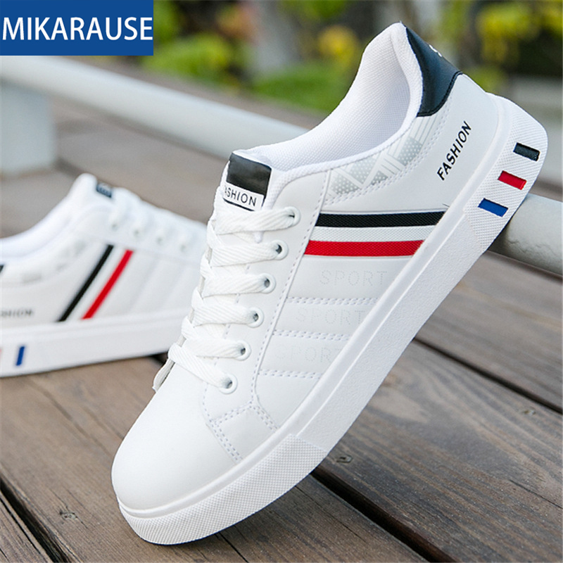 Men white Sneakers Man Casual Shoes Breathable Leather Tenis Trainers Sports Running Mens Sneaker Handsome Basic Walking Shoes