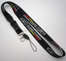 10pcs car Type R MUGEN power Lanyard Cell Phone Key Chain Strap Quick Release red/ black/gray