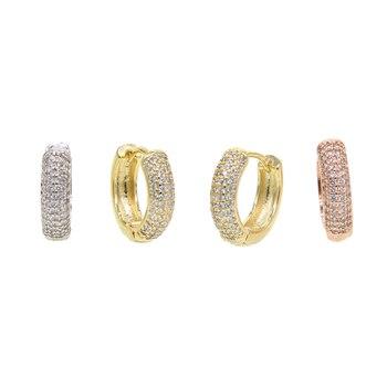 1a088f1b38c8 Pendientes reales de plata de Ley 925 pendientes de aro irregulares de oro  champán 2019 para ...