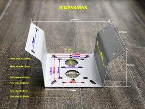 Image 2 - OWLCAT מתכת פינת הר BRACKET עבור IP מצלמה CCTV PTZ קיר להתקין חיצוני עמיד למים לבן