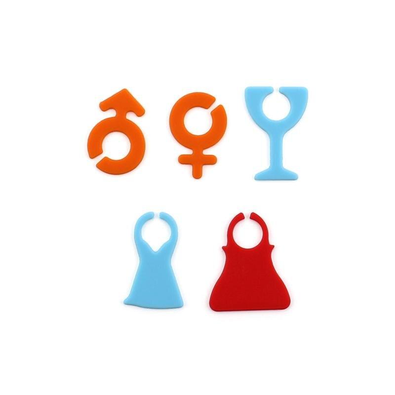 24 шт., многоцветная присоска, кружка стаканы, маркер, силиконовая этикетка, вечерние, специальные, стеклянная чашка, распознаватель, инструменты, маркировочные принадлежности